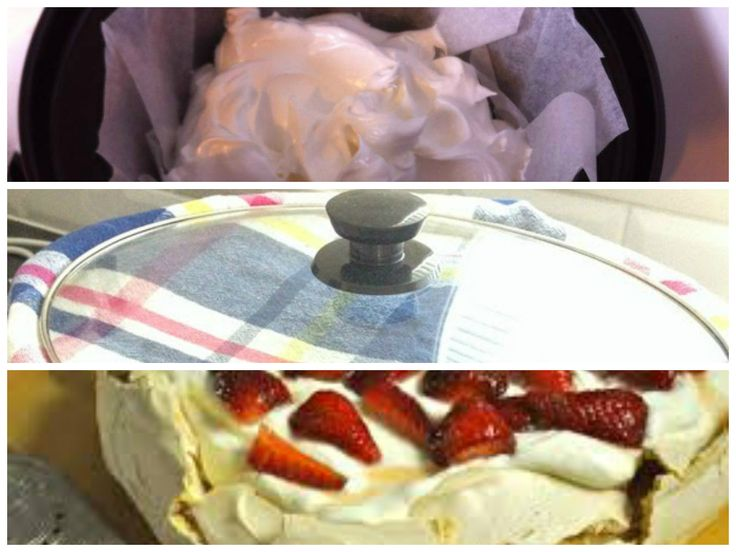 PAVLOVA IN A SLOW COOKER All I can say is I'll never cook a pavlova in the oven again! Pavlova - made in 3.5litre INGREDIENTS: 6 eggs, separated 1 1/4 cups caster sugar 2 tsp corn flour 1 tsp vanilla 1 tsp white vinegar