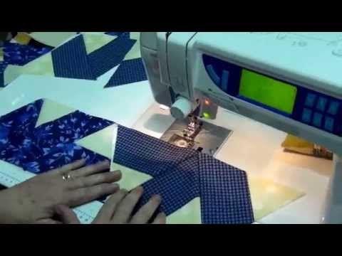 Tia Lili Patchwork: como fazer duas colchas ao mesmo tempo usando uma régua triangular - YouTube