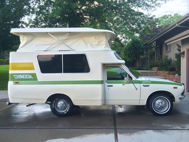 Here's a perfect time capsule Chinook from Jeff Edwards. Beautiful Chinook and photos! This is a 1974 Toyota Chinoook with 56,000 original miles. Purchased from Sheridan Ranch Supply in Sheri…