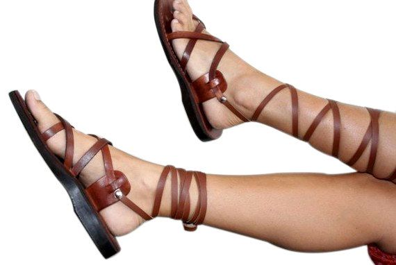 Brown Gladiator Leather Sandals by SANDALI on Etsy, $65.00