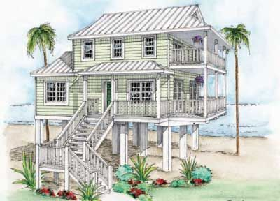 Beach house floor plans on stilts google search beach for Beach house plans on stilts