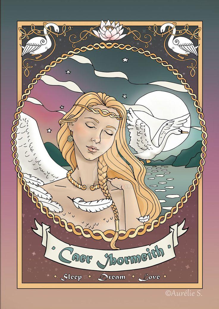 Caer Ibormeith - Coloured page by Aurelie-S.deviantart.com on @DeviantArt