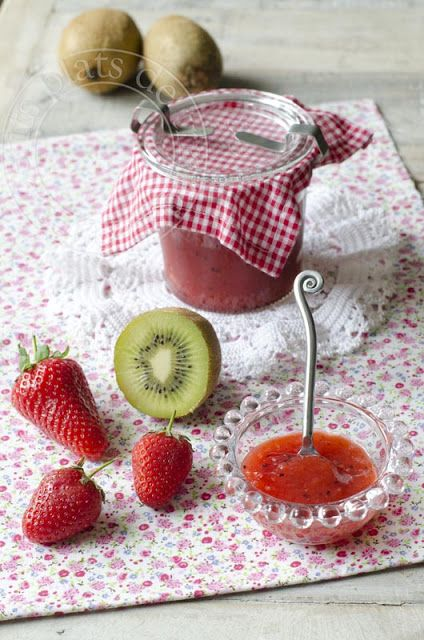 Confiture fraise et kiwi