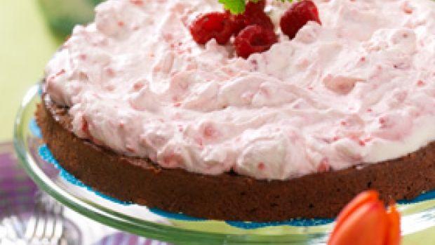 Opskrift på chokoladekage med hindbærfløde