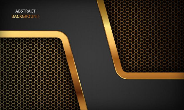 Black Abstract Luxury Background Texture With Realistic Golden