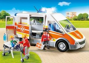 Playmobil 6685 Ambulance avec gyrophare et sirène (avril 2016)