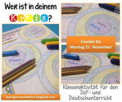 Sich besser kennenlernen in der Klasse. Tolle Klassenaktivität für DaF und Deutschuntericht.