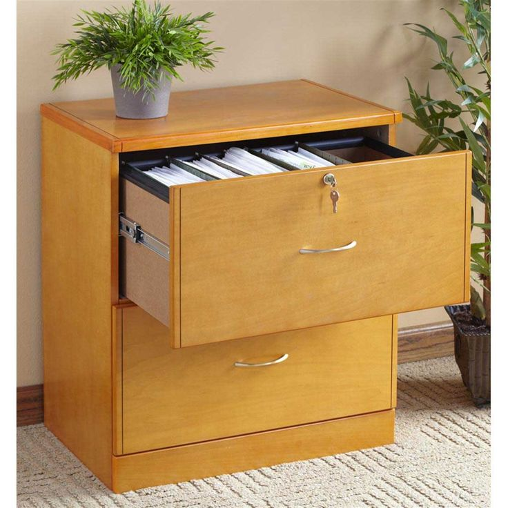 3 Drawer Wood Effect Filing Cabinet