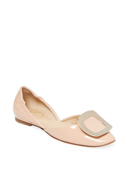 Square Ballet Flat by Roger Vivier at Gilt