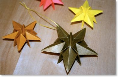 Christmas origami: Christmas star | Christmas, Decoration, Ornament, Difficulty: Medium | Senbazuru – せんばづる