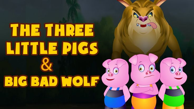 The Three Little Pigs and Big Bad Wolf | Fairy Tales for Children by Tin...