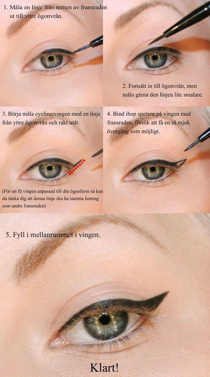 måla eyeliner med vinge