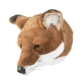Pluche dierenkop Vos Prachtige pluche dierenkop. Deze sluwe vos maakt elke baby-kinderkamer bijzonder. Hij heeft een verharde rug en is voorzien van een handig ophanglusje.  Afmeting van de pluche olifantkop zijn: 27 x 22 x 23 cm