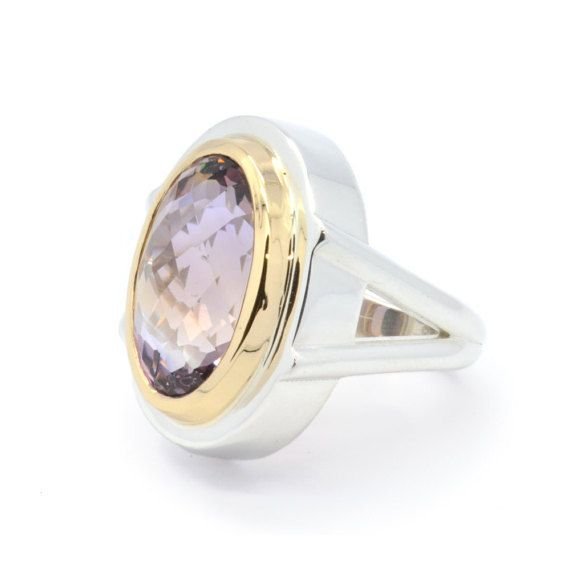 Sterling Silver Ametrine Ring Natural Ametrine by SuttonSmithworks