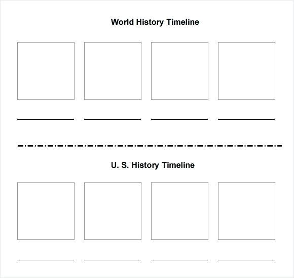 Blank Timeline Template For Students Powerpoint 2007 Blank