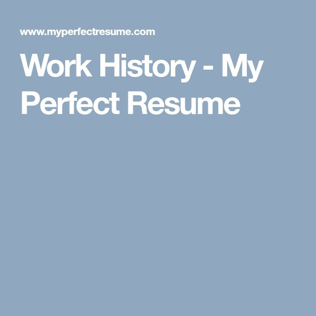 75 Best RESUMES Images On Pinterest Resume Tips, Gym And   My Perfect  Resume Free  My Perfect Resume Free