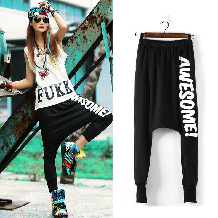 2015 New Womens Summer Hip Hop Casual Baggy Harem Pants Dance Jogger Sport Girl Jogger Slacks Sweatpants