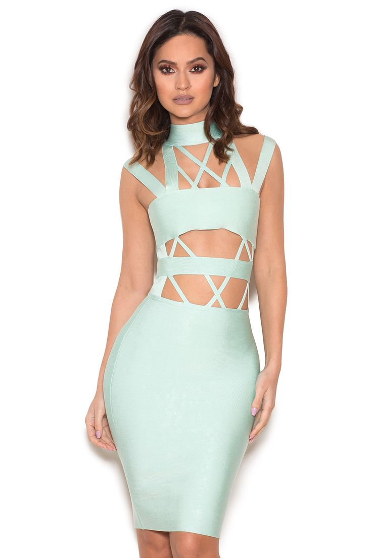 Buy motel coco backless bodycon dress in hot pink at motel rocks - Gorgeous Minty Tones And Perfectly Positioned Cut Outs Make Charna One Of Our Favourite