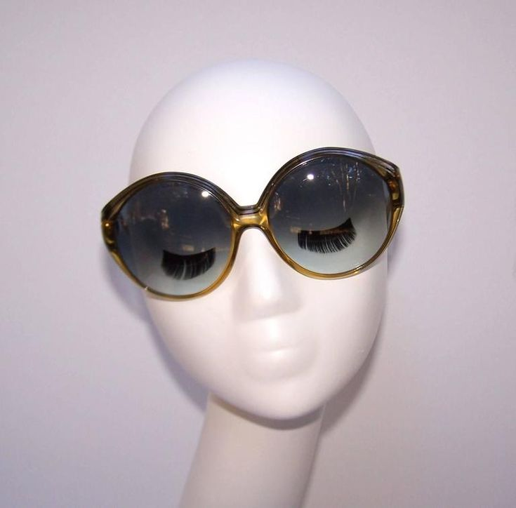 Oversized 1970's Christian Dior Optyl Sunglasses With Gradient Blue Lenses 9