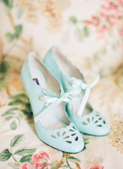 Mint wedding shoes. Modcloth.