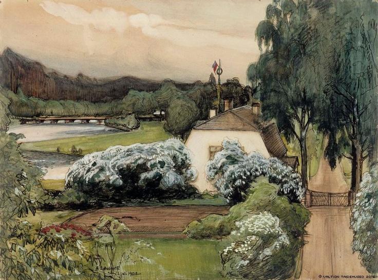 Albert Edelfelt (1854-1905) The Foreman's House at Saari Manor (Manor in Häme) / Saaren Kartano, Pehtoorin Talo (Herraskartano Hämeessä)