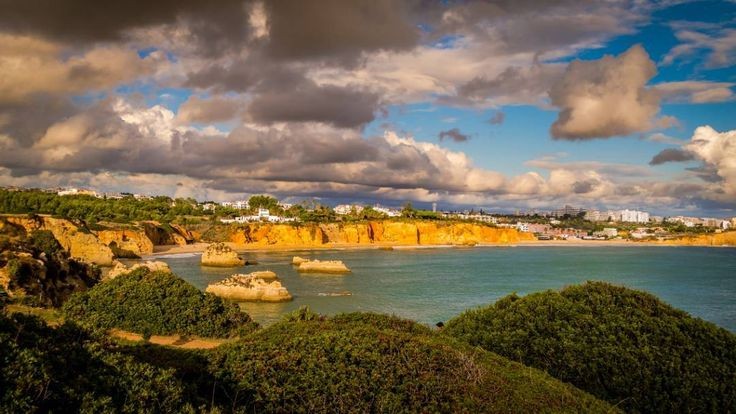 Algarve Portugal.  #Portugal #water #travel #traveling #visiting #instatravel #instago #seashore #sea #sky #outdoors #beach #nature #landscape #panoramic #island #daylight #scenic #tree #ocean #tourism #seascape #summer #cloud #fernando #cortes #leal