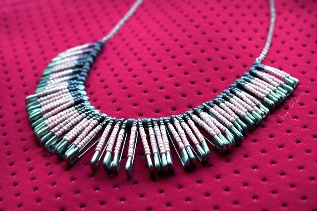 #Safetypins #necklace #diy #handmade
