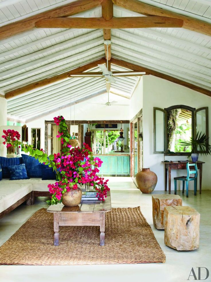 Anderson Cooper invites Architectural Digest into his vacation house in the lush beach town of Trancoso, Brazil.