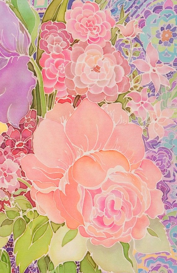 flowers, paisley, digital print, roses, flowers,print, bouquet