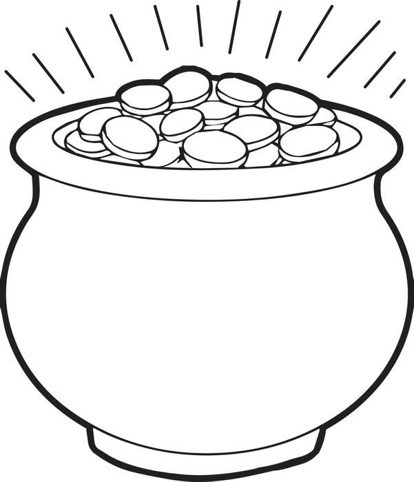 pot of gold coloring page 1 - Printable Popsicle Coloring Pages