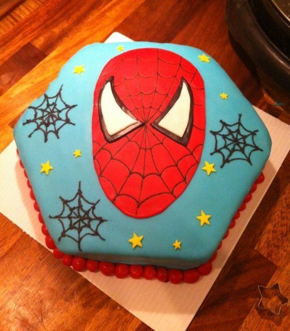 spiderman cake .