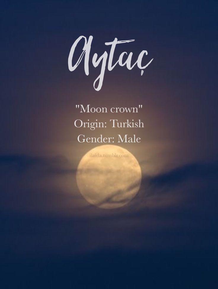 Baby boy name: Aytaç. Meaning: Moon crown. Origin: Turkish.