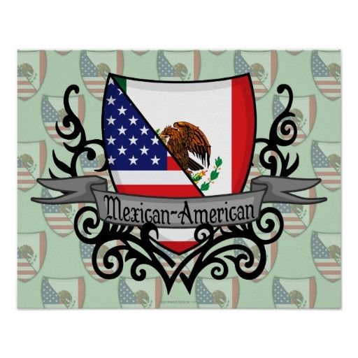 mexican american flag patch