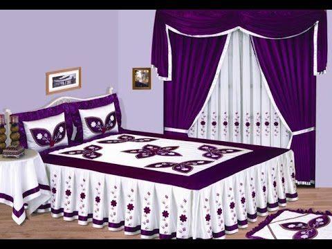أجمل مفارش سرير للعروسة - YouTube