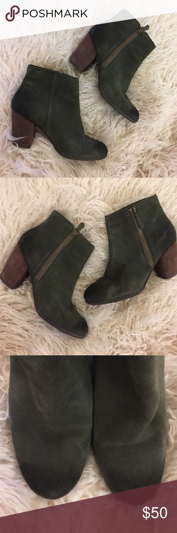"Nordstrom Deep Green Booties size 7 Love this color! Just haven't worn all season so must purge and find a new home for these beauties. Fits true to size. 3.5"" heel. Can wear for hours. Slight wear. bp Shoes Ankle Boots & Booties"