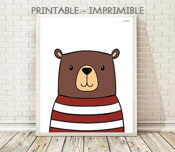 bear print, kids room decor, kids art room, nursery decor, nursery print, baby shower, baby print , baby decor, baby room, poster kids, bear