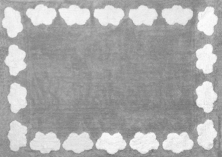 100% Baumwolle Teppich Maschine waschbar für Aratextil. Colección Nube Gris 120x160 cms: Amazon.de: Baby