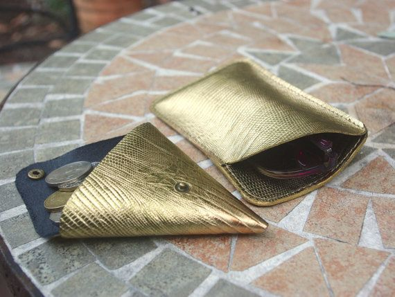 FREE SHIPPING Metallic gold lizard embossed by PurJusShop on Etsy
