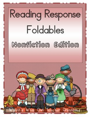 Reading Response Foldables Nonfiction Edition  from Mrs. Wyatt's Wise Owl Teacher Creations on TeachersNotebook.com -  - Reading Response Foldables Nonfiction Edition
