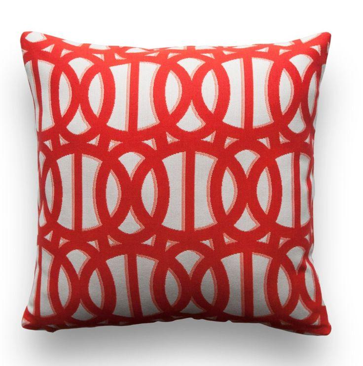 Sunbrella® Pillow Cover - Reflex in Flame