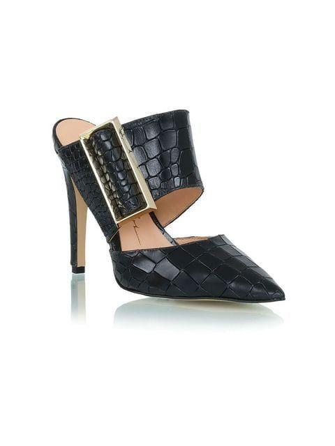 5085fba9e7 Luiza Barcelos Mule De Couro Com Fivela em 2019 | shoes/sapatos ...