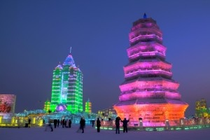 Harbin International Ice and Snow Festival - The 2007 festival built a snow sculpture that was 250 meters long, 28 feet high and used up 13,000 cubic meters of snow. #CoxandKings