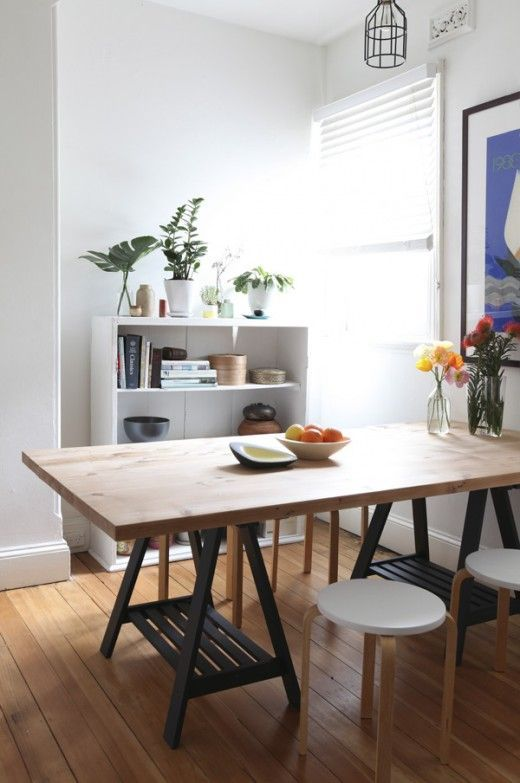 Trestle Dining Table Sydney Home Of Gemma Cagnacci And Andrew Meehan Via  Design Files