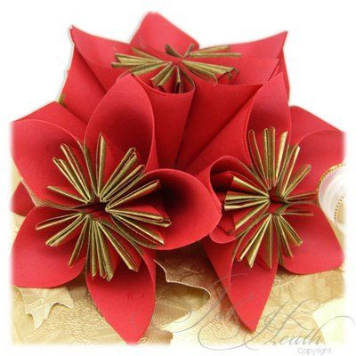 26 best paper folding images on pinterest paper craft paper christmas paper flowers for wrapping mightylinksfo