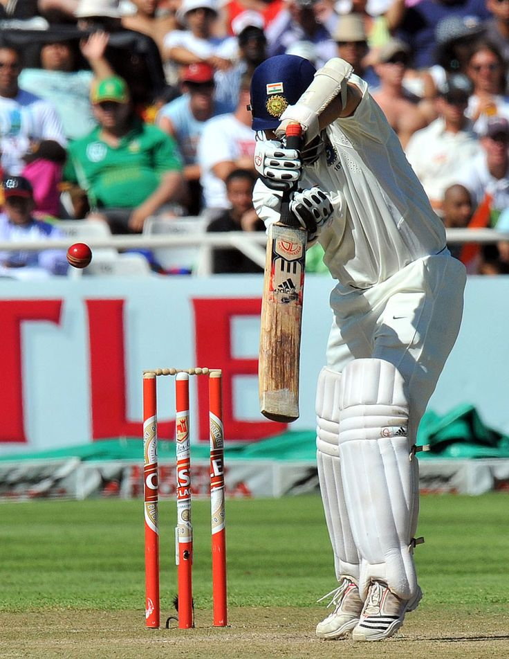 A compact back-foot defensive shot from Sachin Tendulkar, South Africa v India, 3rd Test, Cape Town, 2nd day, January 3, 2011 200th.in