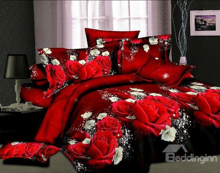 luxury+red+comforter+sets | Bedding Sets 3D Bedding Girls Bedding Luxury Bedding Cheap Bedding ...