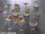 Met gekleurd zout en waspoeder een ijscoupe maken