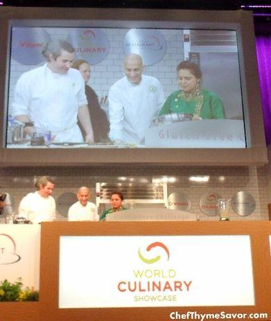 Gluten Free Culinary Demo Maxine Bilet, Jehangir Mehta, and Maneet Chauhan Delight the crowd! #Gfreenotafad