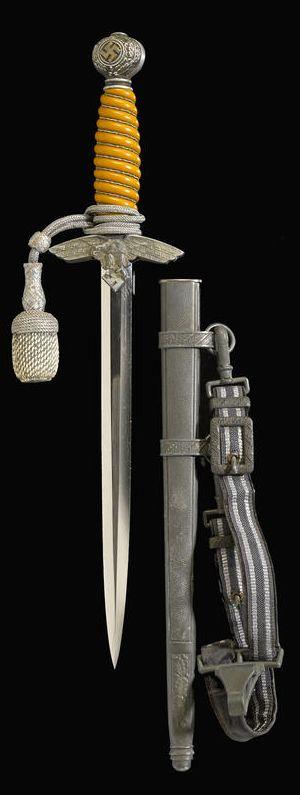 A German 2nd Model Luftwaffe dagger by Paul Weyersberg & Co.