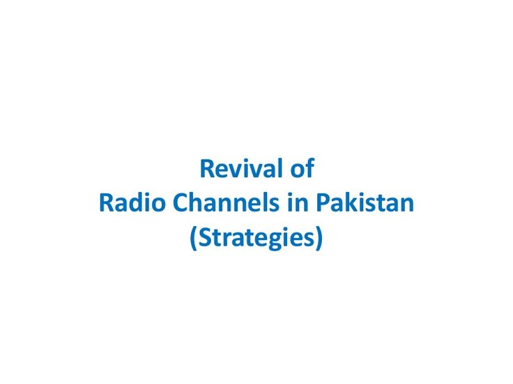 Revival of FM Radio Channels via slideshare